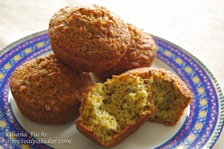 Receta de muffins de naranja y semillas de amapola