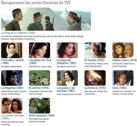 Las series literarias en la web de TVE