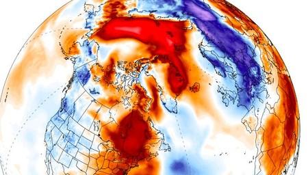Es pleno invierno en el hemisferio norte y podrías estar en el Polo con un abrigo ligero
