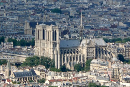 Notre Dame De Paris Vue De La Tour Montparnasse