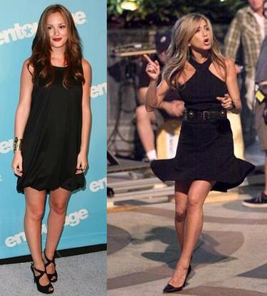 Little Black Dress: ¿Leighton Meester o Jennifer Aniston?