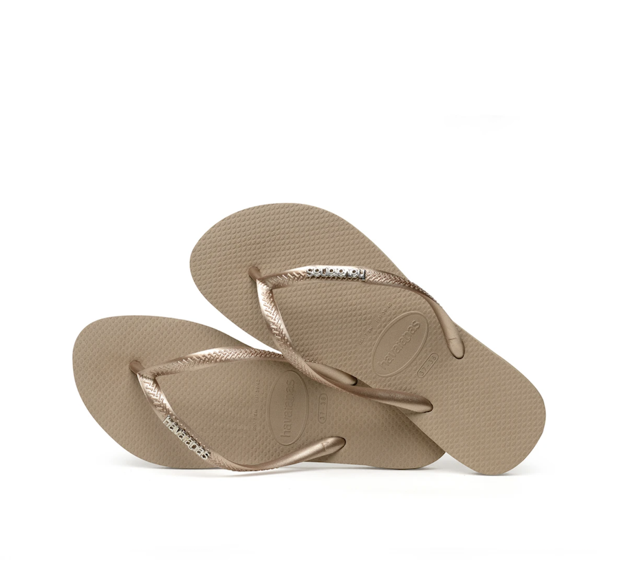 Chanclas Slim Logo Metallic