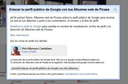 """Google """"sugiere"""" a los usuarios de Picasa a vincular sus fotos con su perfil de Google"""