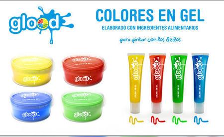 Pegamento y colores fabricados con ingredientes alimentarios e inocuos