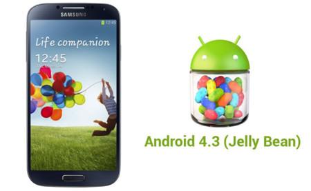 Samsung Galaxy S4 comienza a recibir oficialmente Android 4.3 (Jelly Bean)