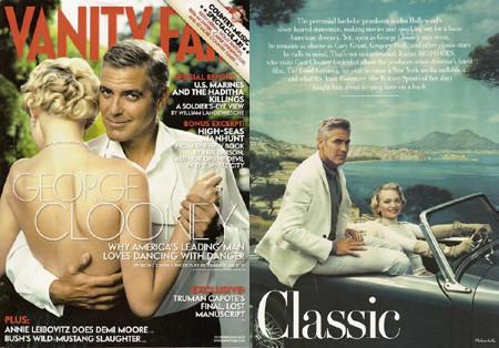 George Clooney y Gemma Ward portada de Vanity Fair