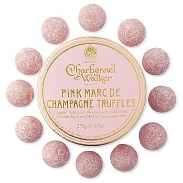 Trufas rosadas de champagne
