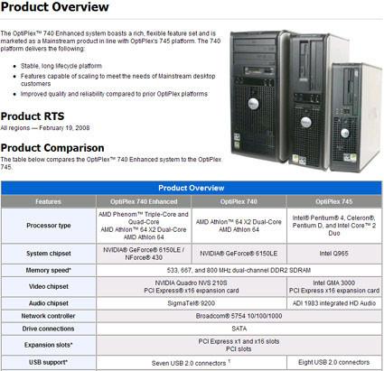 Dell venderá ordenadores profesionales con los Phenom de 3 núcleos