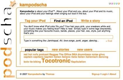 Kampodscha, red social para propietarios de iPods