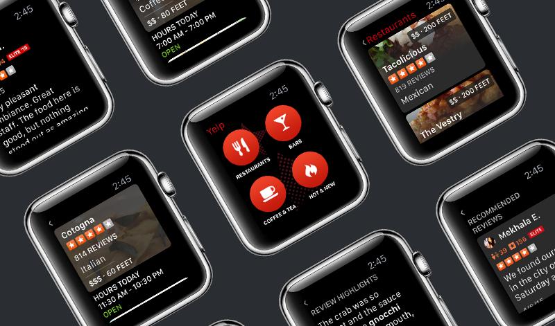 La apps de Yelp para watchOS se actualiza agregando soporte para la brújula del Apple™ Watch Series 5