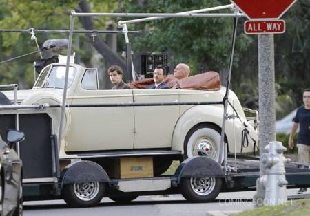 Fotos del rodaje de la nueva película de Woody Allen con Jesse Eisenberg y Kristen Stewart
