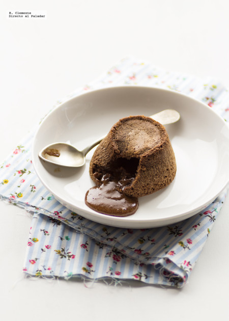 Coulant de chocolate y ron. Receta