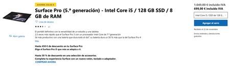 Surface Pro 5 A Generacion