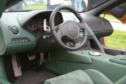 Lamborghini con interior bicolor