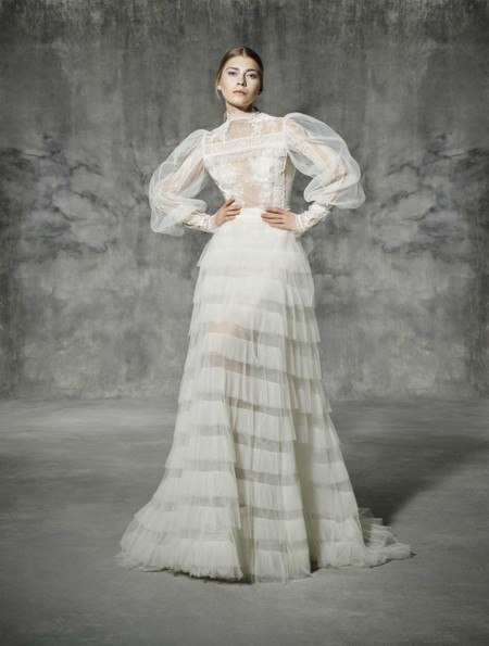 Francoli 0607 Yolancris Romantic Couture Dress Wedding Barcelona Bridal Gown Novia Vestido