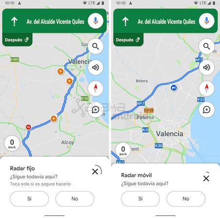 Google Maps Radares