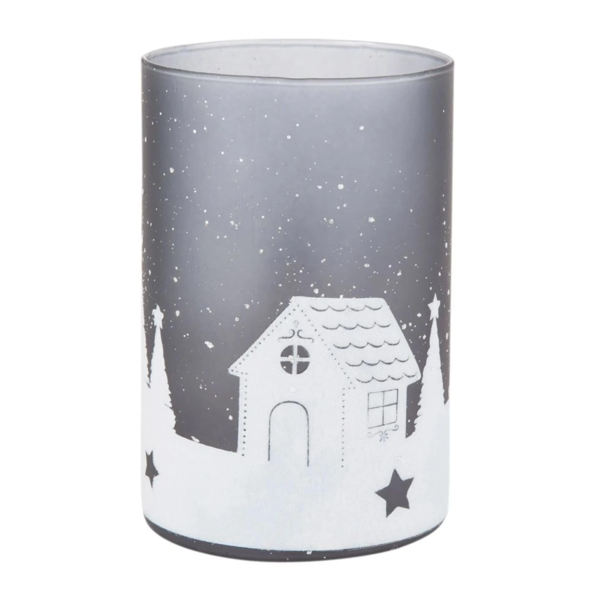 PAYSAGE- Portavelas navideño de cristal con estampado de paisaje gris - Lote de 6  20,70 € 41,94 € (3,45 € la unidad)