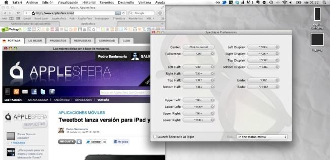 Configurando Spectacle para definir la posición de las pantallas