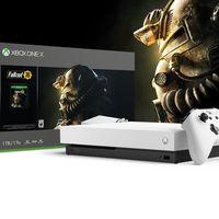 Consola Xbox One X, en edición especial blanca con el juego Fallout 76, con 100 euros de descuento