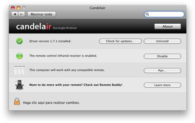 Candelair soluciona el problema de Snow Leopard con el Apple Remote