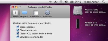 """¿Dónde ha escondido Snow Leopard la unidad """"Macintosh HD"""" del escritorio?"""