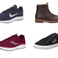 Ofertas en tallas sueltas de botas y zapatillas Panama Jack, Levi's, Saucony o Nike en Amazon