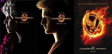 Carteles de los personajes de Effie y Cato y primer póster español de Los juegos del hambre
