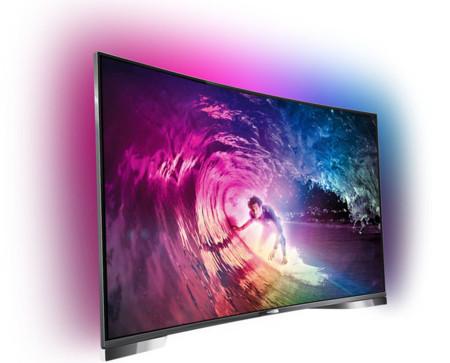 Philips LED 4K ultra HD curvo con Android serie 8909 a fondo: así es la nueva generación de televisores