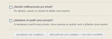 Directo al Paladar  Opcciones de correo