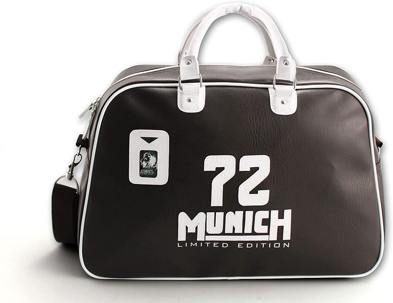 Franquihogar - Bolsa de Deporte Vintage Deportiva de Gimnasio de Viaje 25 litros marrón Oscura Munich Gym Bag
