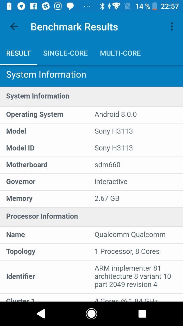 Foto de Benchmarks Sony Xperia XA2 (7/9)