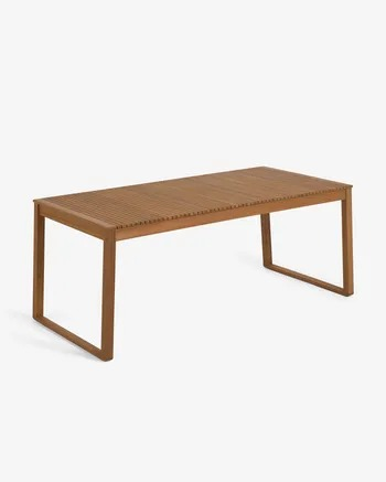 Mesa de exterior Emili madera maciza acacia 190 x 90 cm