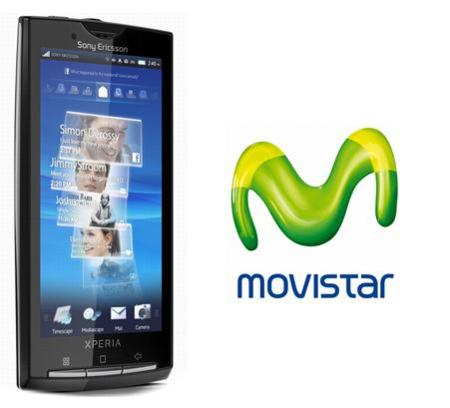Sony Ericsson Xperia X10 también con Movistar
