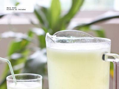Agua fresca de limón y tuna. Receta