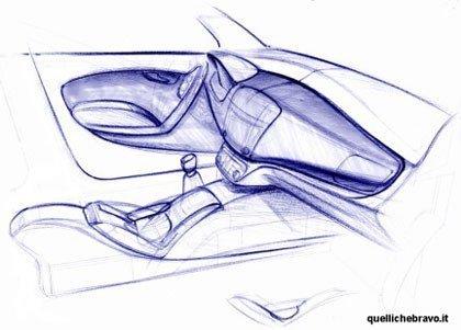 El diseño del interior del Fiat Bravo
