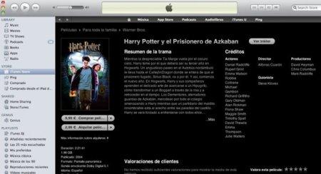 Alquilar y comprar películas en iTunes ya es posible