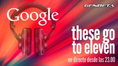 Seguimiento del evento musical de Google en directo
