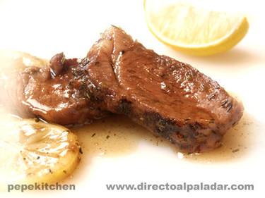 Receta de carne asada con salsa de limón