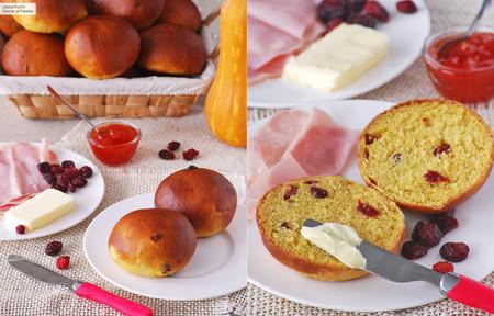 Panecillos de calabaza con arándanos rojos: receta para un tierno desayuno o merienda