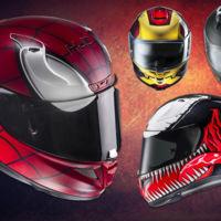 Con los nuevos cascos HJC de Marvel no te vas a quitar a los superhéroes de la cabeza