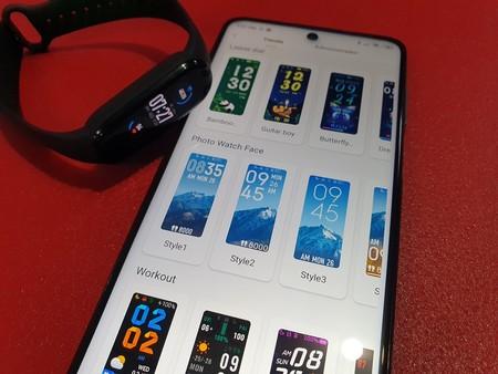 Pantalla de personalización de Xiaomi Mi Smart Band 5 Primeras impresiones México