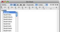 Usa el autocompletado de palabras en Mac OS X