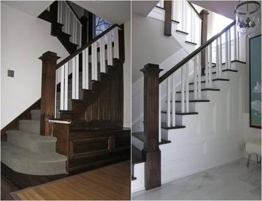 Una renovación interesante: antes y después de un espacio de entrada