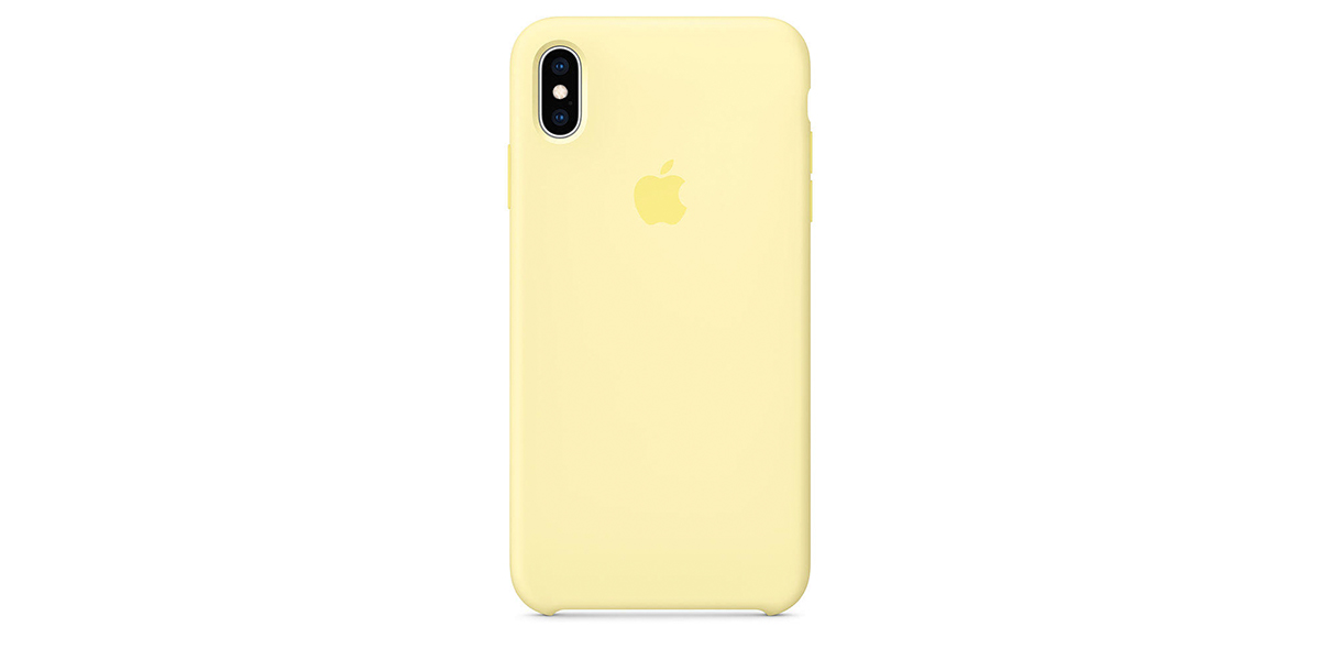 Apple Silicone Case Funda iPhone Xs Max Amarillo suave