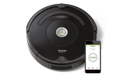 Amazon también tiene rebajdo el Roomba 671, con conectividad WiFi, esta semana: 239,99 euros con 60 de descuento