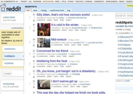 Reddit prueba unos grupos de subforos independientes llamados multireddits