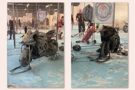 ¡Tremendo! Un incendio en el circuito de Barcelona-Catalunya destruye una Yamaha YZF-R1 y una BMW S 1000 RR