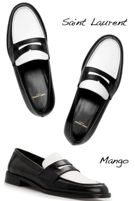 mocasines saint laurent vs mango