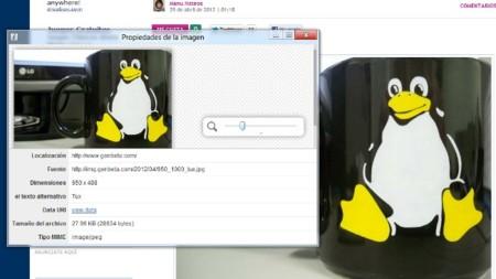 Averigua las propiedades de una imagen online desde el menú contextual en Chrome
