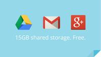 Google unifica a 15GB el almacenamiento en la nube ofrecido para Drive, Gmail y Google+